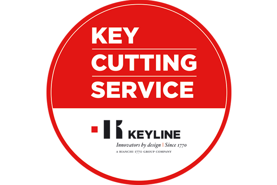 Key cutting service sticker