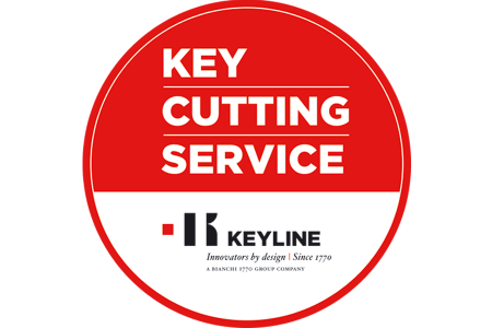 Key cutting service sticker